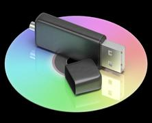 Stock Illustration of usb and dvd memory shows portable storage