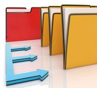 folders or files shows administration and organized - stock illustration