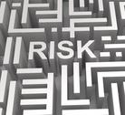 Stock Illustration of risky maze shows dangerous or risk