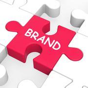 Brändi palapeli näyttää branding tavaramerkki tai tuotteen etiketissä Piirros