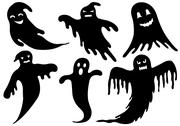 Stock Illustration of Illustration Of Different Ghosts