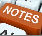 Stock Illustration of notes key shows information reminders or info