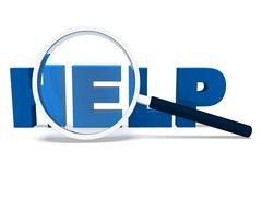 Stock Illustration of help word shows helping helpdesk assisting or support