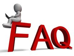 faq shows frequently asked questions - stock illustration