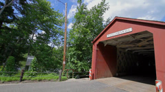 Covered Bridge, West Cornwall, CT Stock Footage
