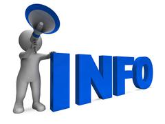 Info announcement shows information inform and faq Stock Illustration