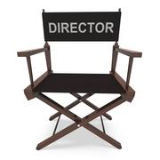 director's chair shows movie producer or filmmaker - stock illustration