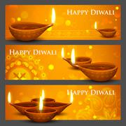 Diwali Holiday banner Stock Illustration