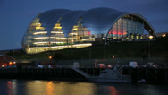 Stock Video Footage of the sage at dusk, newcastle on tyne, england