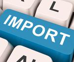 Stock Illustration of import key means importing or imports.