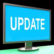 update screen means updates modified or upgrade - stock illustration