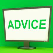 Stock Illustration of advice screen means guidance advise recommend or suggest