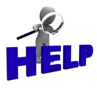 help character shows helpline helpdesk assist or support - stock illustration