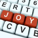 Stock Illustration of joy key shows fun or happiness.