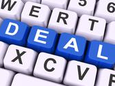 Stock Illustration of deal key means agreement or dealing.