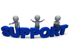 support word shows assistance and help - stock illustration