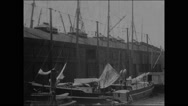 Departure of Peary and the Roosevelt from New York (I) (1905) Stock Footage