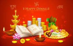 Happy Diwali - stock illustration