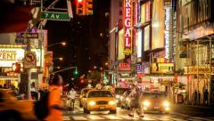 Times Square New York Time Lapse Stock Footage