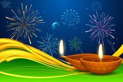 Diwali Diya Stock Illustration