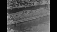 New York City dumping wharf (1903) Stock Footage