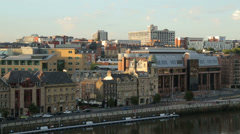 Newcastle upon tyne river skyline, england Stock Footage