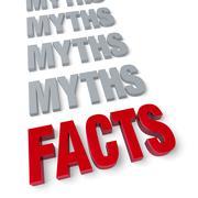 facts end myths - stock illustration