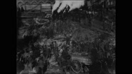 Beginning of a skyscraper (1902) Stock Footage