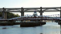 King edward vii bridge and swing bridge, newcastle upon tyne, england Stock Footage