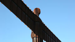 Angel of the north sculpture, gateshead, tyne and wear, england Stock Footage