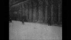 Automobile parade (1899) - free stock footage