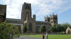 Durham cathedral and palace green, england Stock Footage
