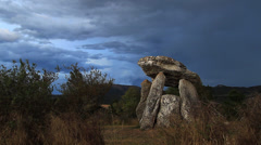 Dolmen time lapse - stock footage