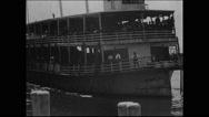 Emigrants landing at Ellis Island (1903) (I) Stock Footage