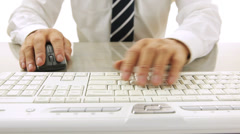 Close up of man typing Stock Footage