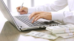 Officeman at work Stock Footage