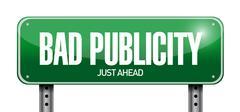 Stock Illustration of bad publicity road sign illustration design