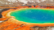 Stock Video Footage of Grand Prismatic Spring