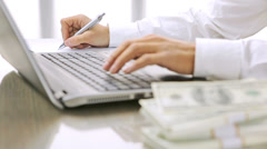 Businessperson at work Stock Footage