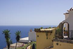 Italian Villa on the Amalfi Coast - stock photo