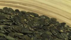 Pumpkin seeds shelled 2 Stock Footage