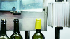 0045 Industrial line for bottling wine Stock Footage