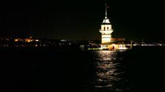 Kız kulesi - stock footage