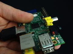 Close up of mini computer - stock photo
