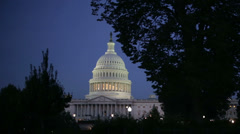 Stock Video Footage of The US Capital Dome in Washington DC