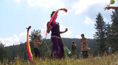Nuoret urheilun vuoristo Arkistovideo
