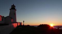 Pemaquid Lighthouse, Maine Stock Footage