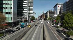 Stockholm Sveavagen 1 traffic Stock Footage