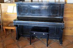 upright piano - stock photo