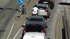Stockholm Sveavagen 4 traffic Stock Footage